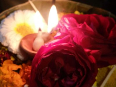 Blumenritual Indien
